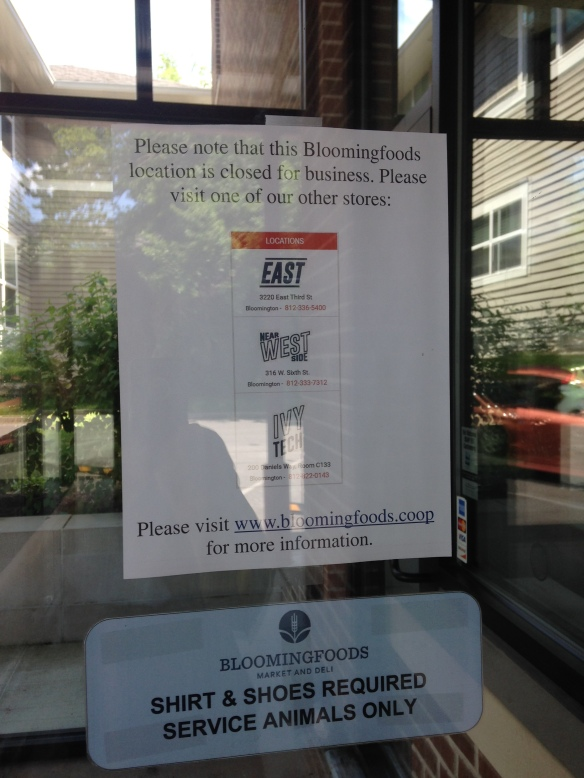GRASSROOTS ACTION: Indiana Food Co-op Closes Storefronts  HWFC